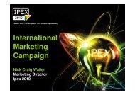 International Marketing Campaign - Ipex
