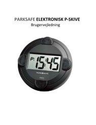 PARKSAFE ELEKTRONISK P‐SKIVE - Ventus