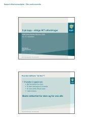 viktige IKT-utfordringer - NSM