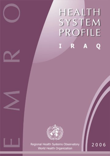 Iraq : Complete Profile - What is GIS - World Health Organization