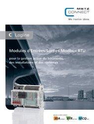 Modules d'Entrées/Sorties Modbus RTU - METZ CONNECT