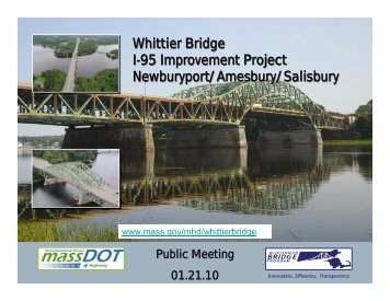 Whittier Bridge I-95 Improvement Project Newburyport/Amesbury ...