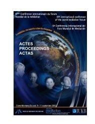 ACTES PROCEEDINGS ACTAS - Mediate.com