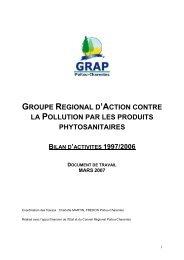 groupe regional d'action contre la pollution par les produits ...