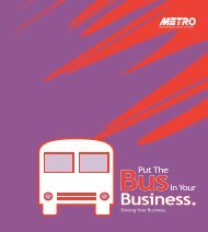 Put the Busin Your Business. - Metro Regional Transit Authority