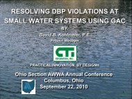 (DBP) Violations at Small Water Treatment Systems ... - Ohiowater.org