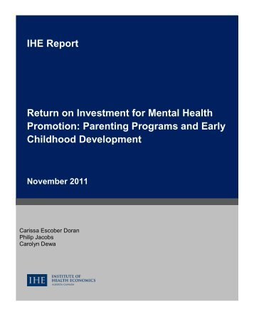 Parenting Programs and Early Childhood Development