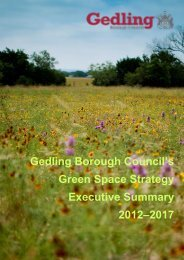 Green Space Strategy - Gedling Borough Council