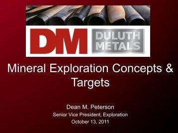 Mineral Exploration Concepts & Targets - PrecisionIR
