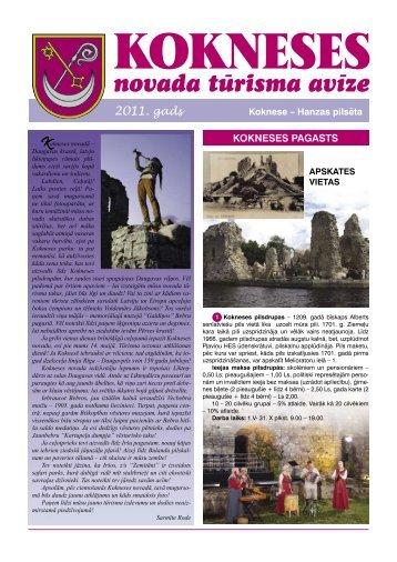 Kokneses novada tūrisma avīze 2011