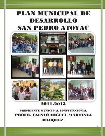 plan municipal de desarrollo san pedro atoyac - finanzasoaxaca.go..