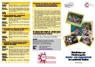 Richtlinien zur Förderung der Kinder- und ... - Jugendförderung