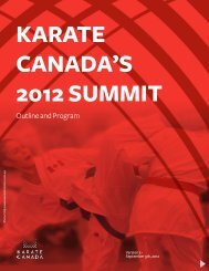KC 2012 SUMMIT - Outline and program - Karate Canada