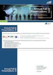 Annual Fall Presentations 2011