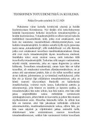 TEOSOFINEN TOTUUDENETSIJÄ JA KUOLEMA - Pekka Ervast