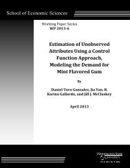 Estimation of Unobserved Attributes Using a Control Function ...