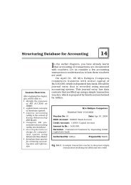 Structuring Database for Accounting
