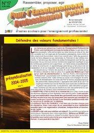 présyndicalisation 2004-2005 - Le Snuep