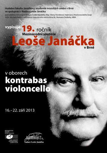 Leoše Janáčka - Janáčkova akademie múzických umění v Brně