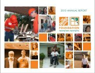 2010 ANNUAL REPORT - The Home Depot Foundation