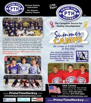 2012 summer calendar - Prime Time Hockey
