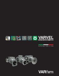 Gearboxes RD - Varvel
