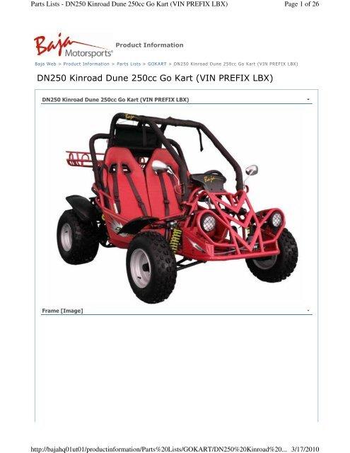 DN250 Kinroad Dune 250cc Go Kart (VIN PREFIX LBX) pdf