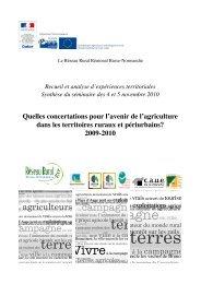 Fiches de capitalisation d'expériences - Réseau Rural Français