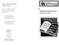 Membership Directory - South Dakota Agri-Business Association