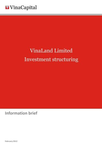 VinaLand Limited Investment structuring - VinaCapital