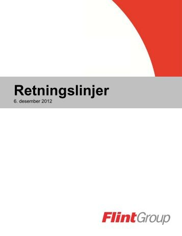 Retningslinjer - Flint Group