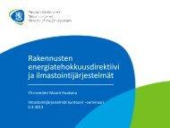 Rakennusten energiatehokkuusdirektiivi ja ilmastointijärjestelmät