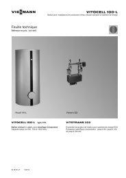 Feuille technique1.0 MB - Viessmann