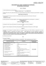 DoP PED0007 FEB ECO F96 EN 1125_ita.pdf - ASSA ABLOY