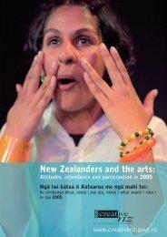 New Zealanders and the arts - Creative New Zealand
