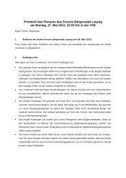 Protokoll des Plenums des Forums Bürgerstadt Leipzig am Montag, 27 ...