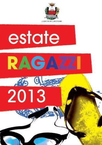 Brochure estate ragazzi 2013 - Comune di Capannori