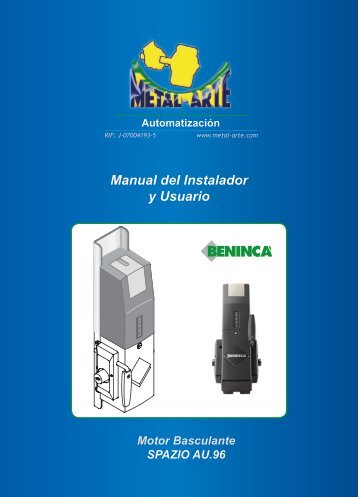 Manual del Instalador y Usuario - metal-arte
