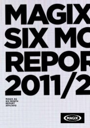 magix ag six month report 2011/2012 - MAGIX Investor Relations