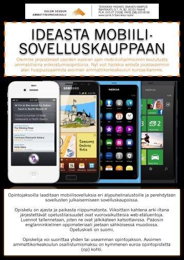Ideasta mobiilisovelluskauppaan - Oamk