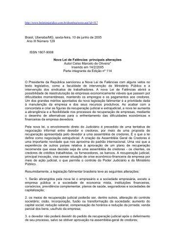 Brasil, Uberaba/MG, sexta-feira, 10 de junho de 2005 Ano III ...