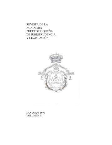 Revista Volumen II - Academia Puertorriqueña de Jurisprudencia y ...