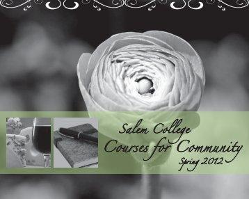 Courses for Community - Salem College