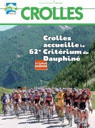Juin 2010 - Crolles accueille le 62e Critérium du ... - Ville de Crolles