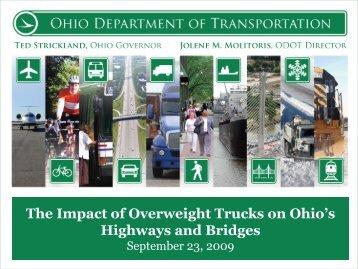 The Impact of Overweight Trucks on Ohio's Highways and Bridges