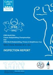 INSPECTION REPORT – Tallinn, Estonia, November 18 ... - Afbf.asia
