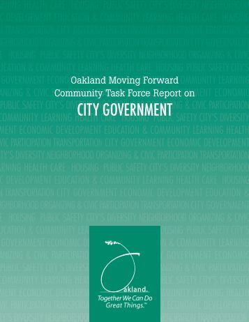 CITY GOVERNMENT - City of Oakland