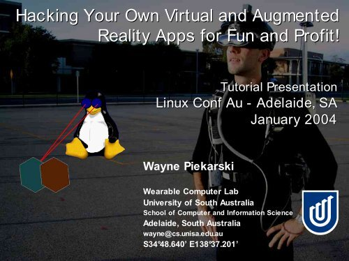 Linux Conf Au 2002 Presentation - Tinmith Augmented Reality Project