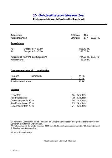 Rangliste Guldenthalerschiessen 2011 Mümliswil.pdf - Pistolenklub ...