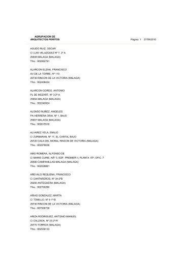 Peritos valencia - Listado arquitectos valencia ...